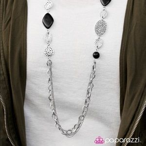Saloon Style black necklace